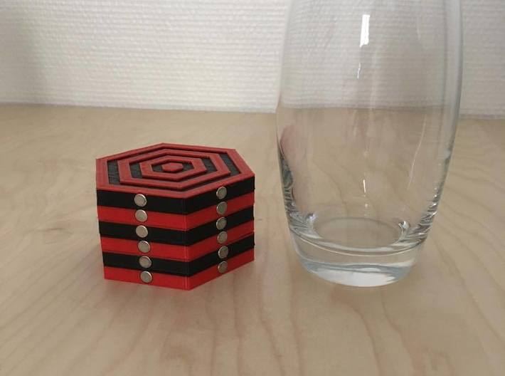 magnetic coaster 3d printed