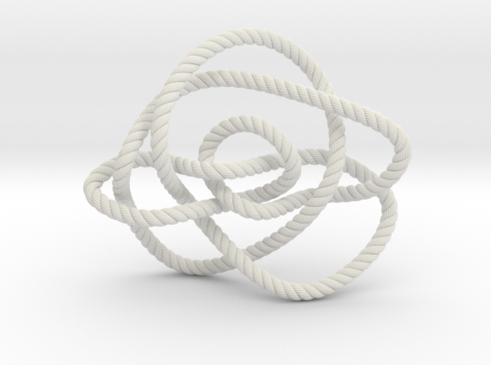 Ochiai unknot (Rope with detail) 3d printed
