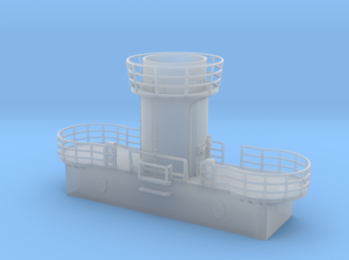 1/200 Bismarck Aft Searchlight Platform 3d printed