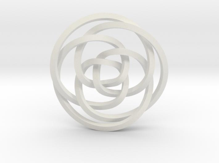 Rose knot 3/5 (Square) 3d printed