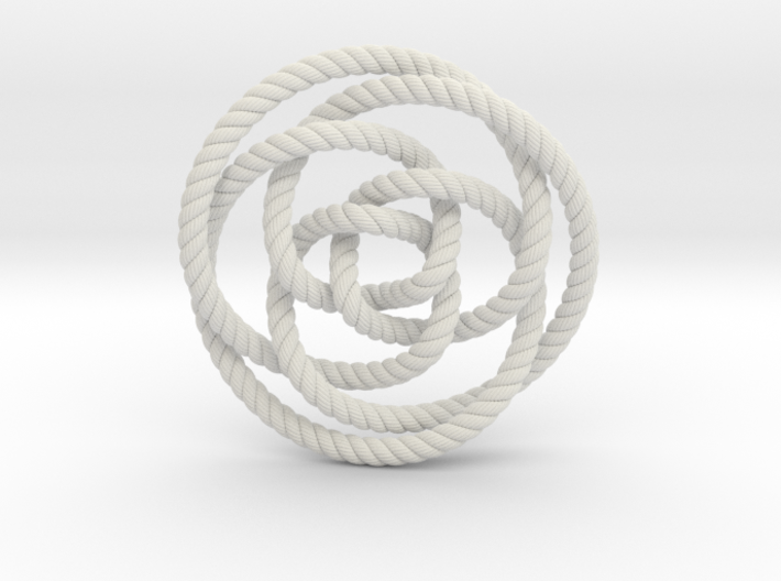 Rose knot 3/5 (Rope with detail) 3d printed