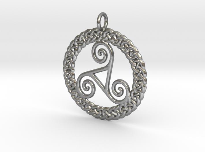Triskelion Knot work Pendant No.2 3d printed