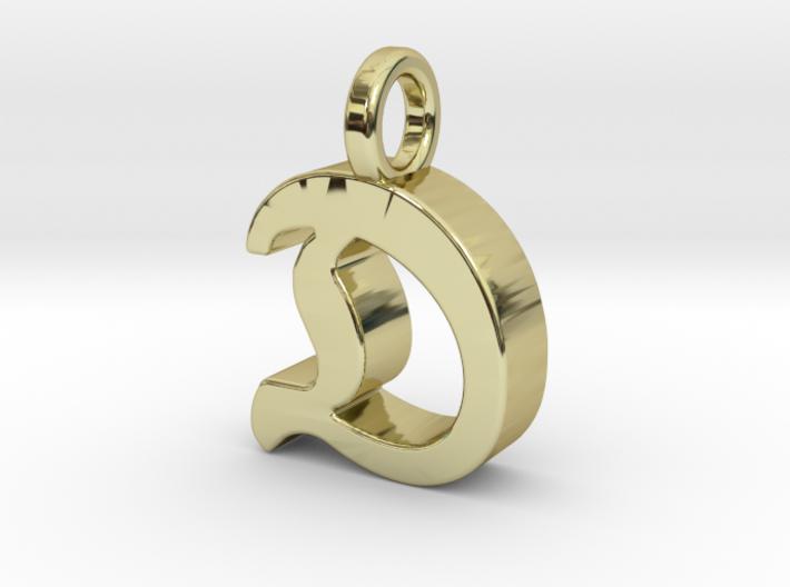 D - Pendant - 3 mm thk. 3d printed