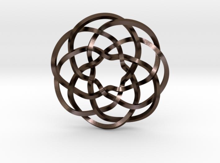 Rose knot 7/5 (Square) 3d printed