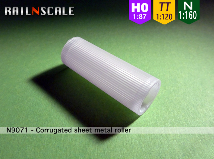 Corrugated sheet metal roller (N - TT - H0) 3d printed
