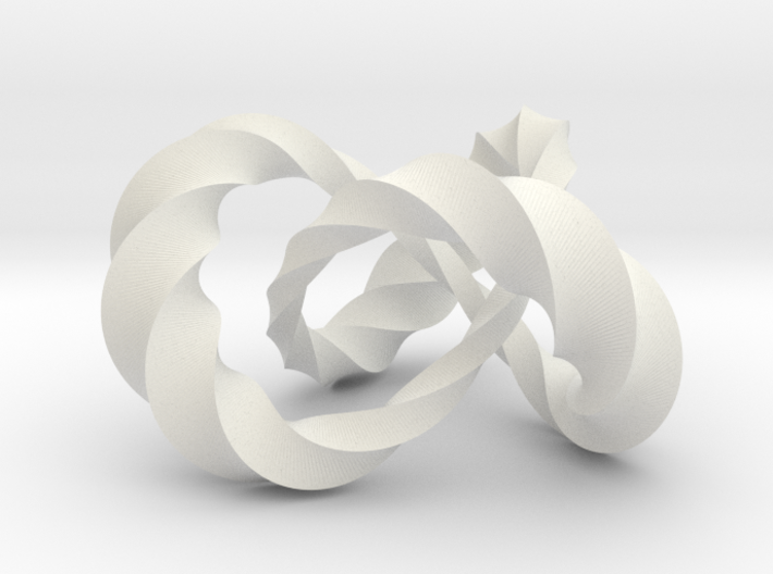 Varying thickness trefoil knot (Twisted square) 3d printed