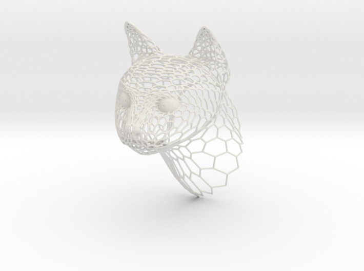 Voronoi Cat head 3d printed