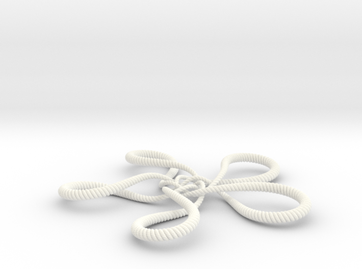 Turtle knot (Rope with detail) 3d printed