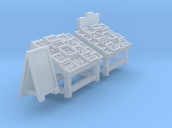 Display racks for greengrocers (N 1:160) 3d printed