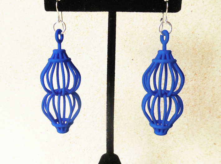 Ruth - Earrings in Plastic 3d printed