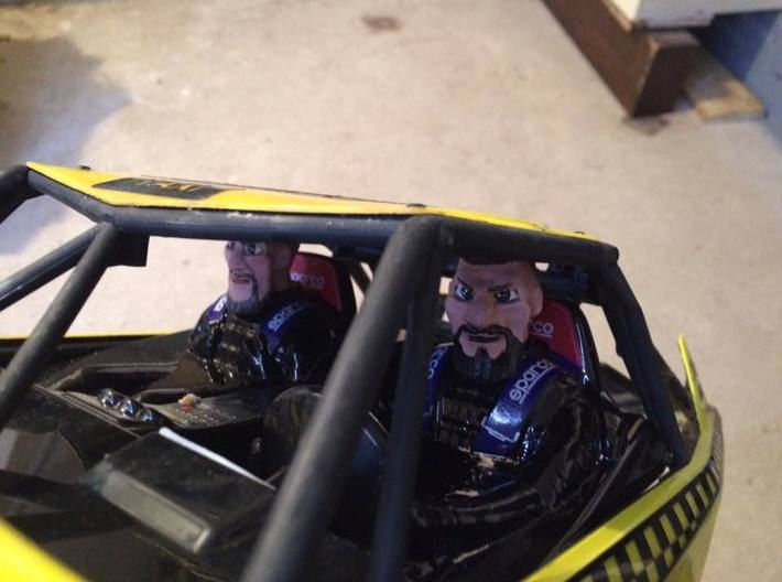 drivers head 3d printed painted...