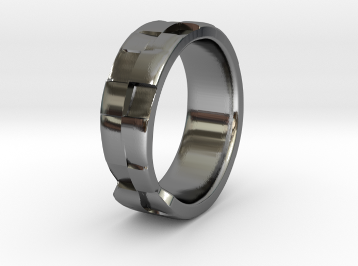 Square Textured & Tapered Ring 3d printed Square Textured & Tapered Ring