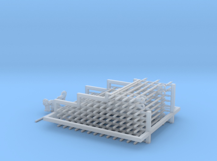 HO/1:87 Cemetery set 6 - fence kit 3d printed