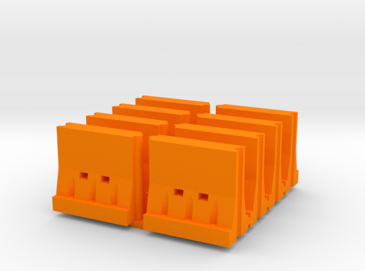 Interlocking Barricade Hollow (8) 1-87 HO Scale 3d printed