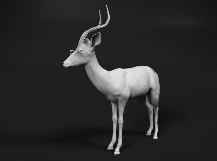 Impala 1:64 Male with Red-Billed Oxpecker 3d printed