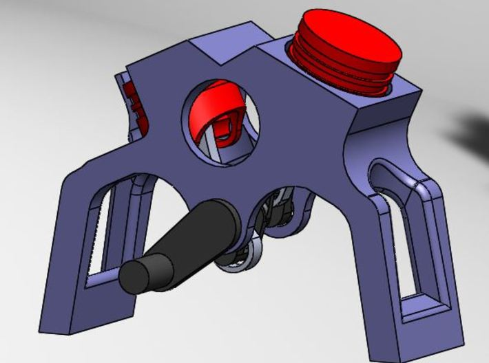 Engine. V-Twin with very visible moving parts 3d printed Shown with color to emphasize individual parts