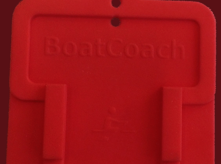 BoatCoach Cradle 3d printed Cradle back
