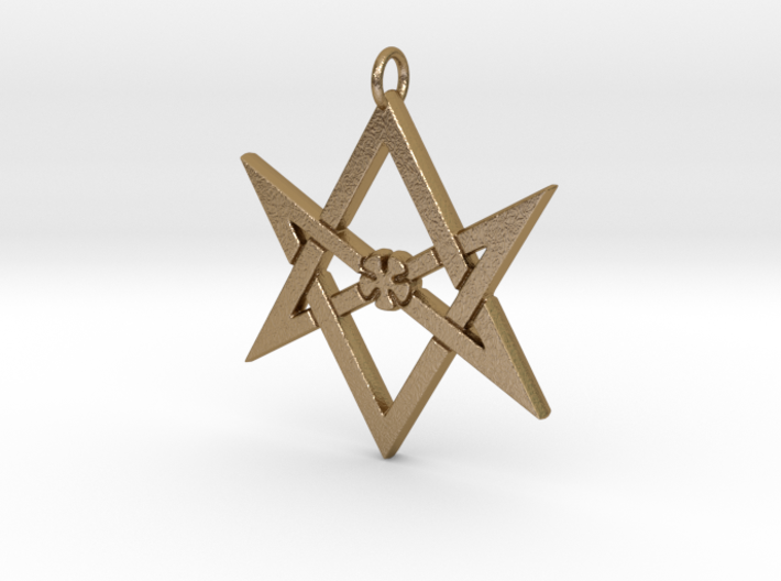 Thelemic Unicursal Hexagram 3d printed