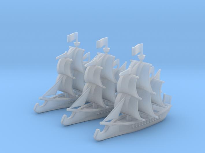 Ram Frigate Squadron, 22 gun: 1/500 scale 3d printed