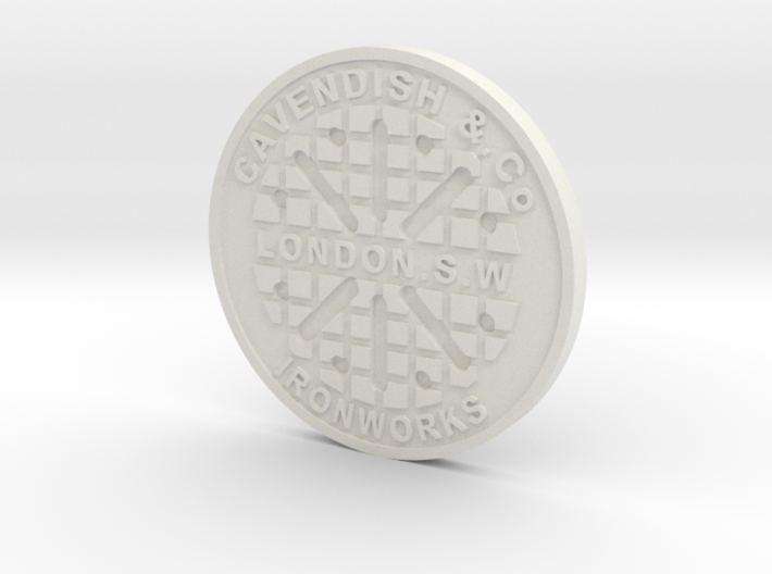1:9 Scale London Manhole Cover 3d printed