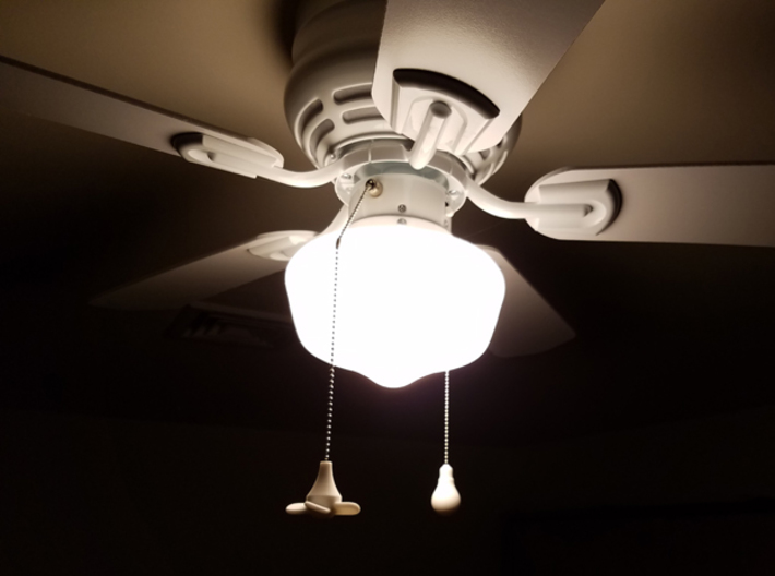 Ceiling Fan Pull-Chain Ornaments 3d printed