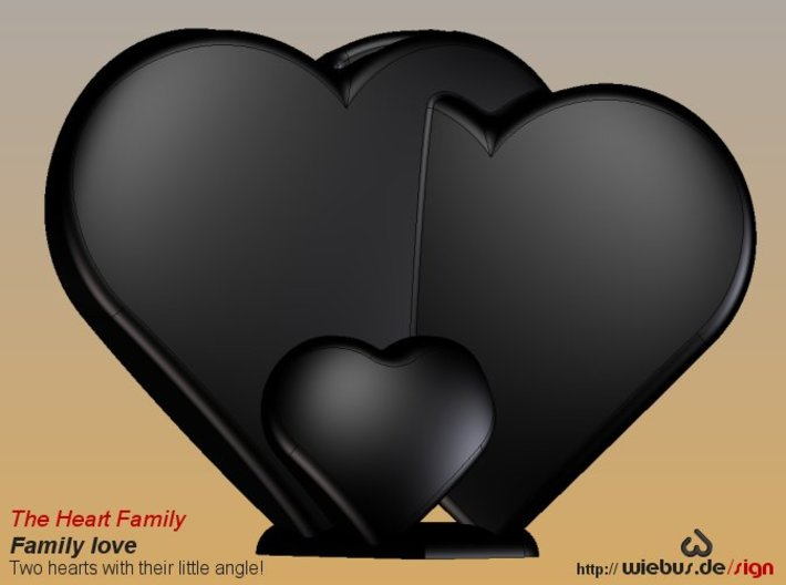 Heart Family - Family love! (large size) 3d printed