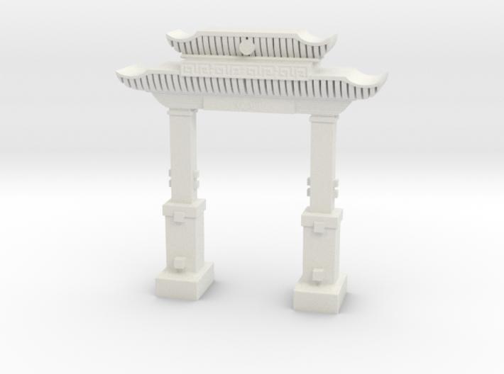 "chinese ""welcome"" ark doorway in tabletop scale 3d printed"