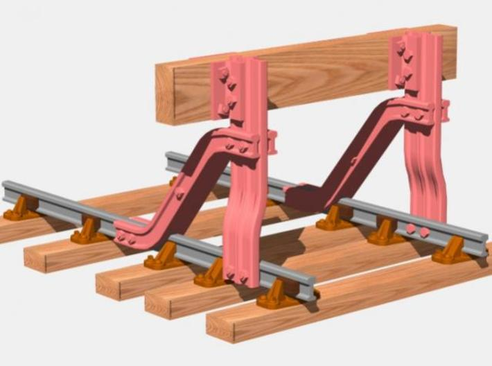 T.W.Ward No. 11b Buffer Stop 3d printed Parts shown in pink are included in the kit