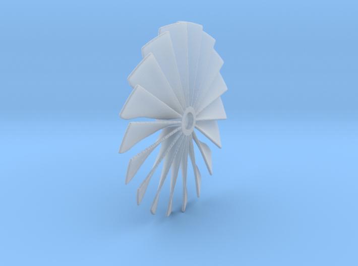 39 mm Diameter Turbo Fan in FED, FUD and HDA 3d printed