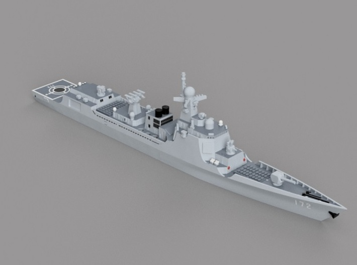 1/1800 CNS Kunming 3d printed Computer software render.The actual model is not full color.
