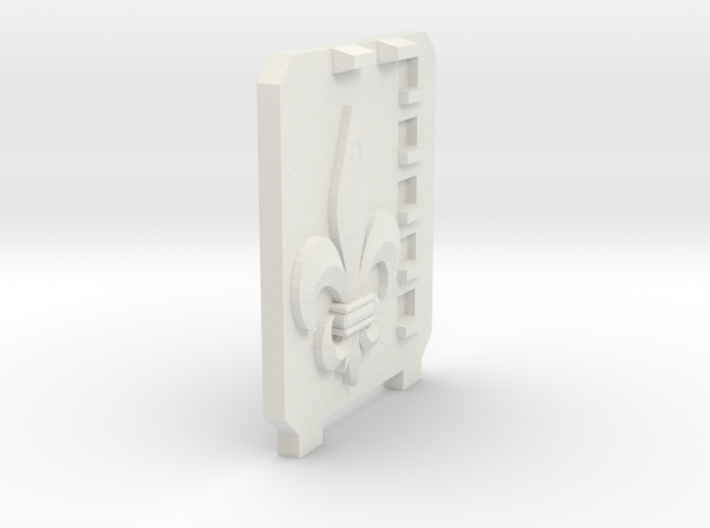 Supressor Right side hatch ( fleur de lis ) 3d printed