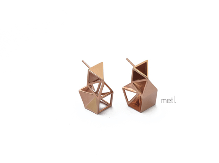 Earrings Under Construction 3d printed