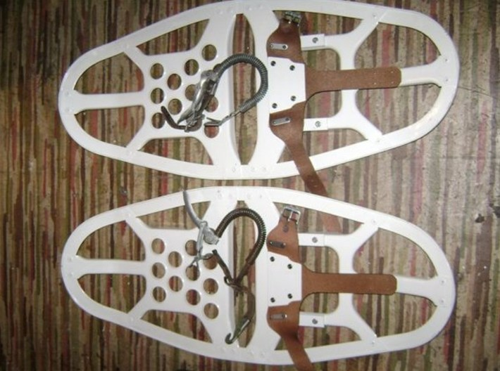 1/35 scale Norwegian Army military snowshoes x 10 3d printed
