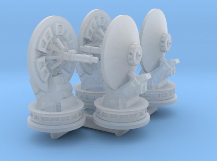 1/270 Rebel Anti-Vehicle Turrets (4) 3d printed