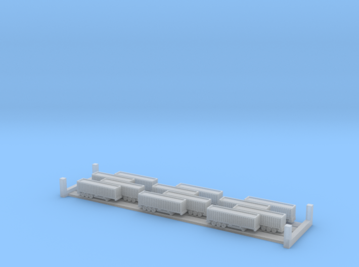 40ft Container Trailers (1:1250) 3d printed