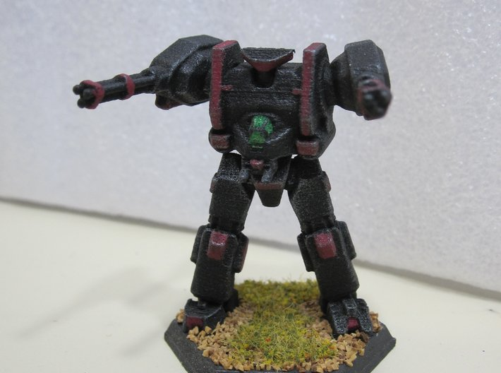 Mecha- Hunter (1/285th) Multi- Part 3d printed Painted by Devin Ramsey (Sumaire) in 'Dreadnought BattleCorps' colors for use in Battletech tabletop wargaming