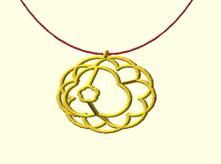 Epicycloid Pendant 3d printed
