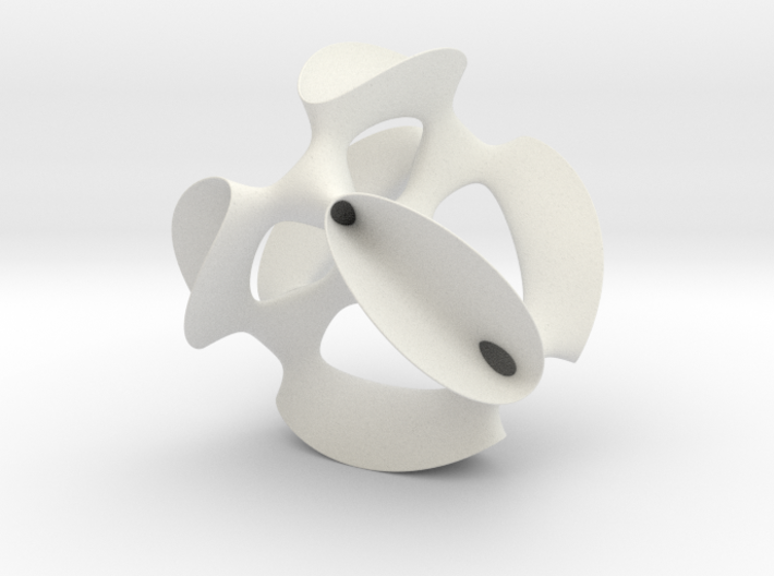 A smoothed Kummer Surface, 19.2cm (7.6in) 3d printed