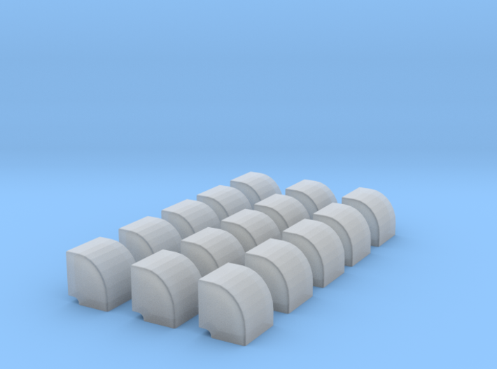 1/200 Vent Side Wall Set x35 3d printed