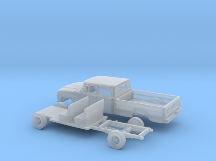 1/160 1962 Chevrolet C20 Fleetside Crewcab SW Kit 3d printed