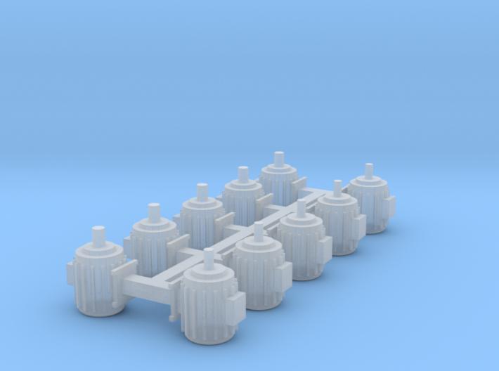 Elektromotoren Größe D 10er Set 1:120 3d printed