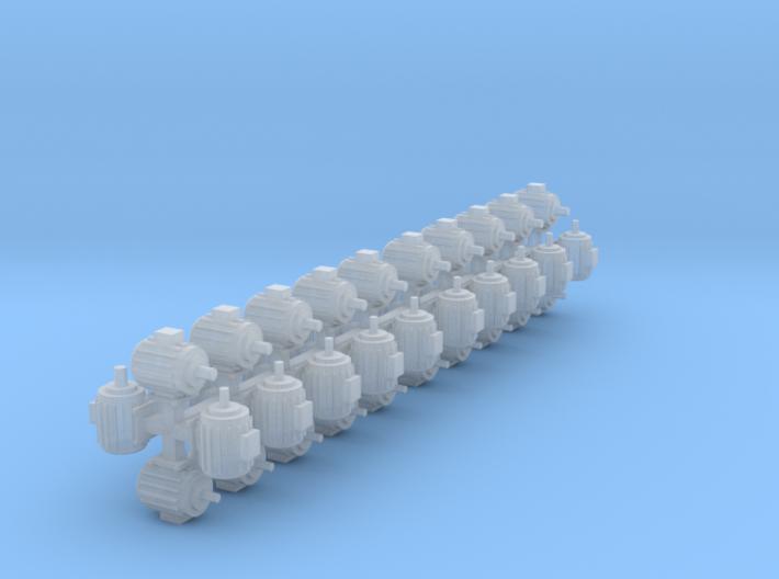 Elektromotoren Größe C 40er Set 1:120 3d printed