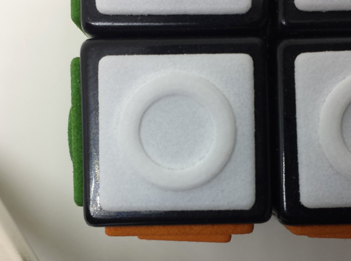 White replacement tile (Rubik's Blind Cube) 3d printed White tile close-up