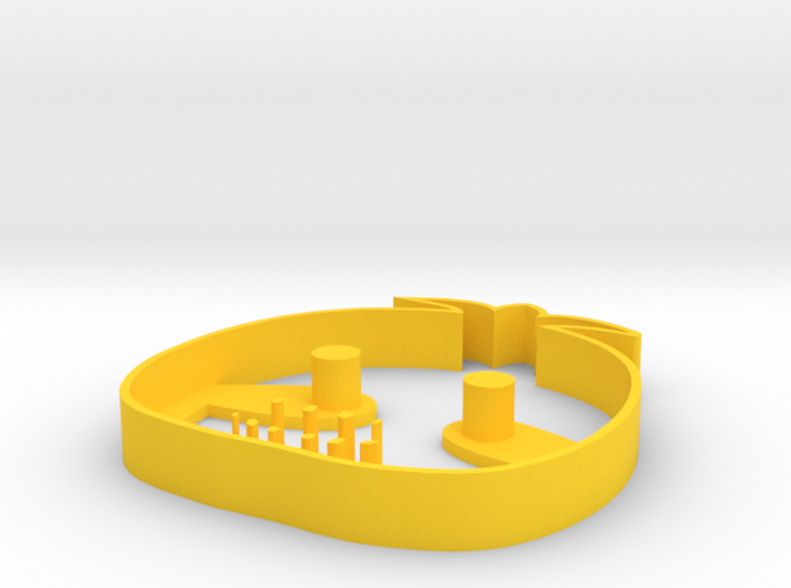 chica cookie cutter 3d printed
