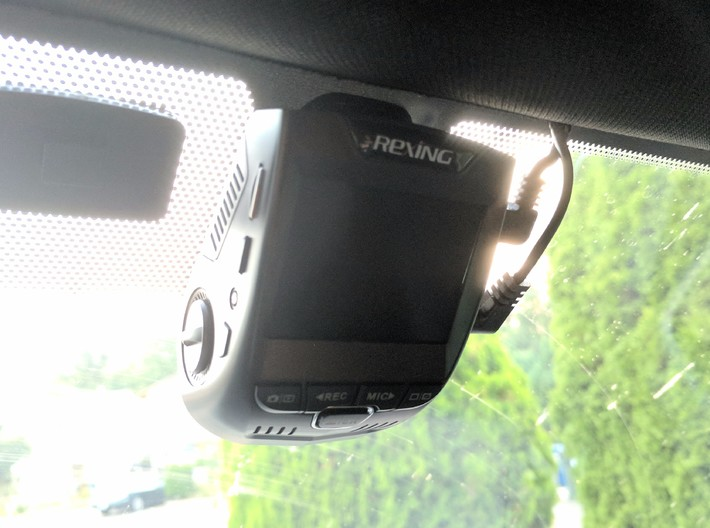 GoPro Compatible Clip to Rexing Dashcam Mount 3d printed Product in action