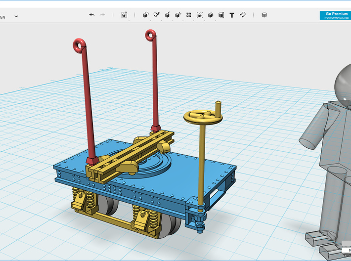 Decauville 1915 bogie 3d printed