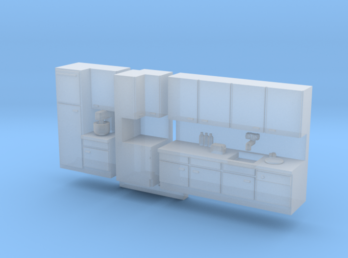 N Scale Kitchen +details 3d printed