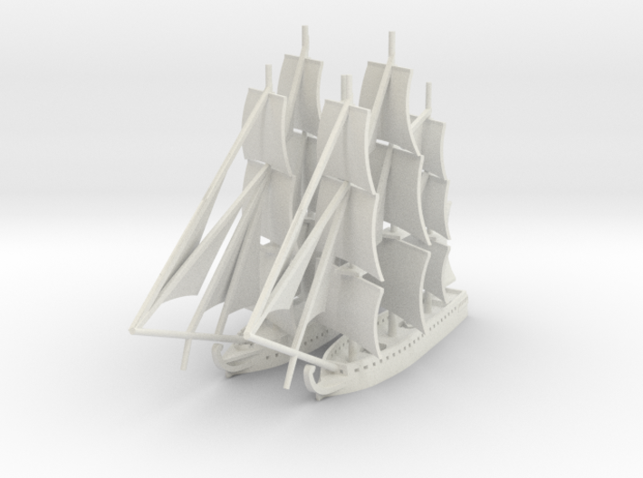 1/1000 1812 War Fleet 3d printed
