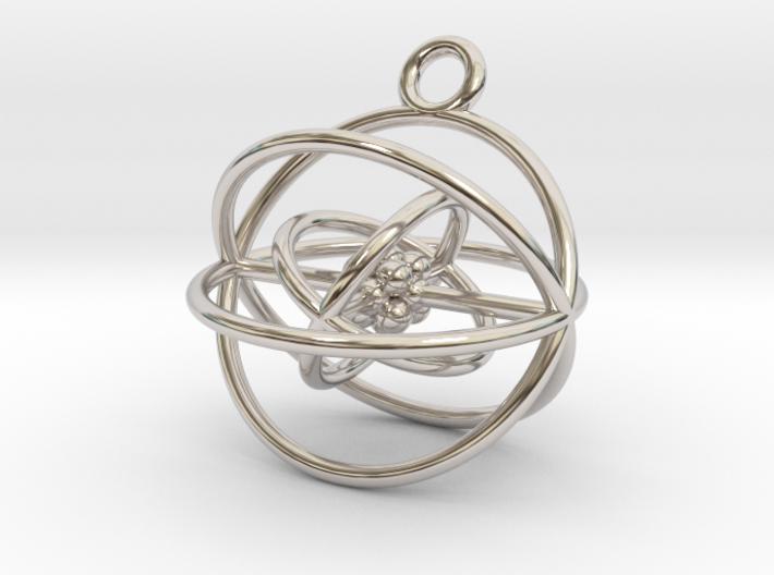 Oxygen atom (large) 3d printed