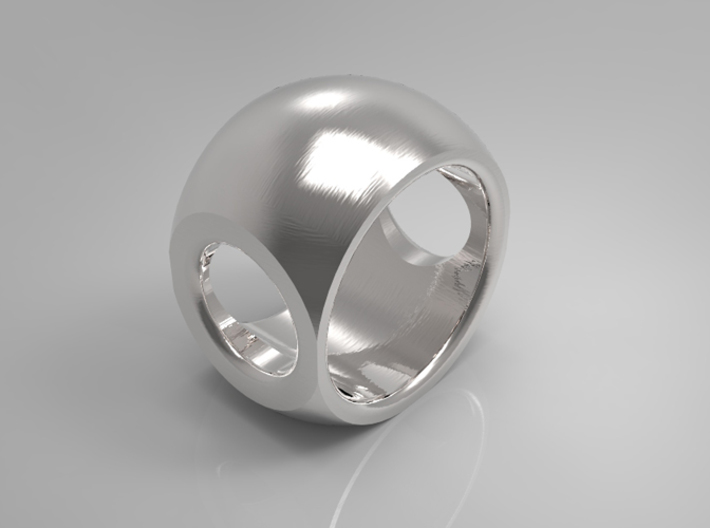 RING SPHERE 1 SIZE 8  3d printed
